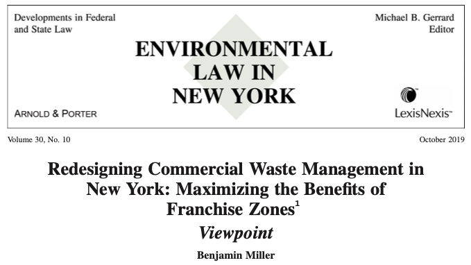 Maximizing the Benefits of Commercial Waste Policy